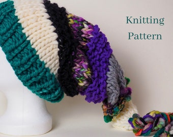 knitting pattern for super chunky adult pixie hat festival hippy elf hat