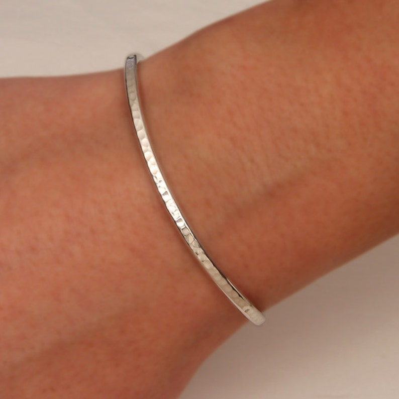Hammered Cuff Bracelet Sterling Silver 350cur.s image 0