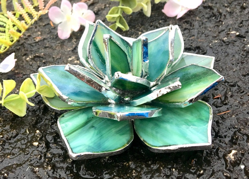 Stained Glass Succulent Wedding Favor Valentines gift image 3
