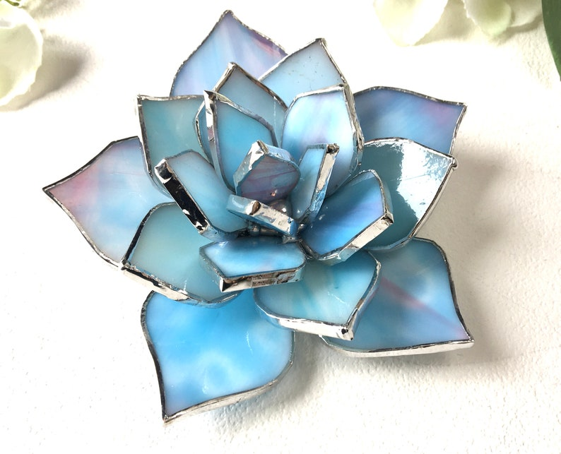 Stained Glass Succulent Wedding Favor Valentines gift image 6