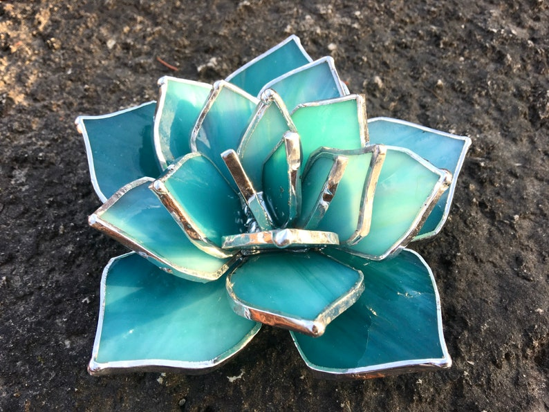 Stained Glass Succulent Wedding Favor Valentines gift image 1