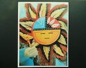 Sun Kachina Print 8 3 16 quot x 10 1 2 quot Wall Art Bold Native