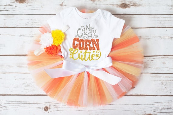 Unique Baby Newborn Halloween Outfit Girl Clothes Candy Corn Cutie Fashion Romper