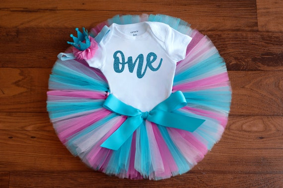 First Birthday Wooden ONE Sign matching headband is separate