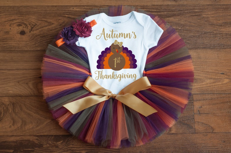 2d8dfc1a4 First Thanksgiving outfit girl Autumn personalized   Etsy