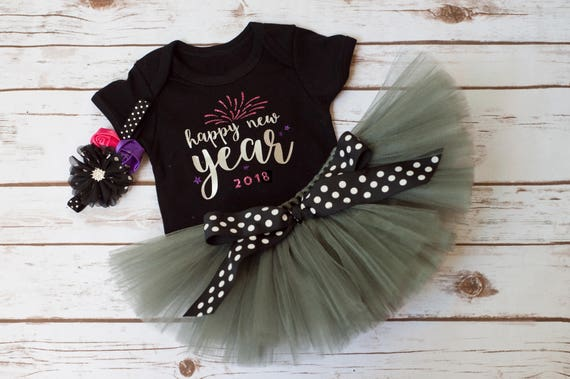 Baby Girl First New Years Outfit Gracie New Years Etsy