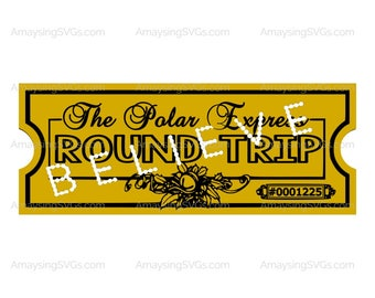 picture relating to Printable Polar Express Tickets Boarding Passes identified as Polar categorical ticket Etsy