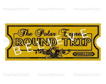 photo regarding Free Printable Polar Express Tickets titled Polar specific ticket printable Etsy