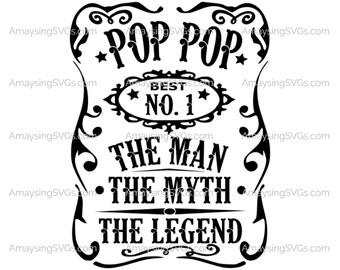 8435592219038 Pop Pop Man Myth Legend svg Fathers Day svg Man Myth Legend svg Pop Pop svg  Grandfather svg Grandpa svg Grandpa tshirt svg Grandpa tumbler