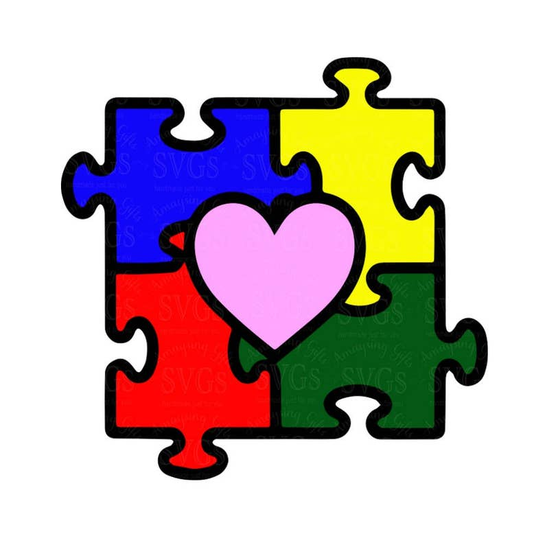 590b082ef SVG Autism SVG Autism Heart Puzzle Autism Awareness