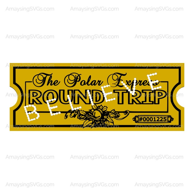 photo about Printable Polar Express Ticket identified as PDF - Polar Specific Ticket - Printable - Consider Ticket - Ticket - Practice Ticket - Getaway Decor - Printable Reward
