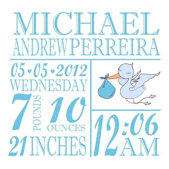 svg baby stats template stork blue new baby svg baby etsy