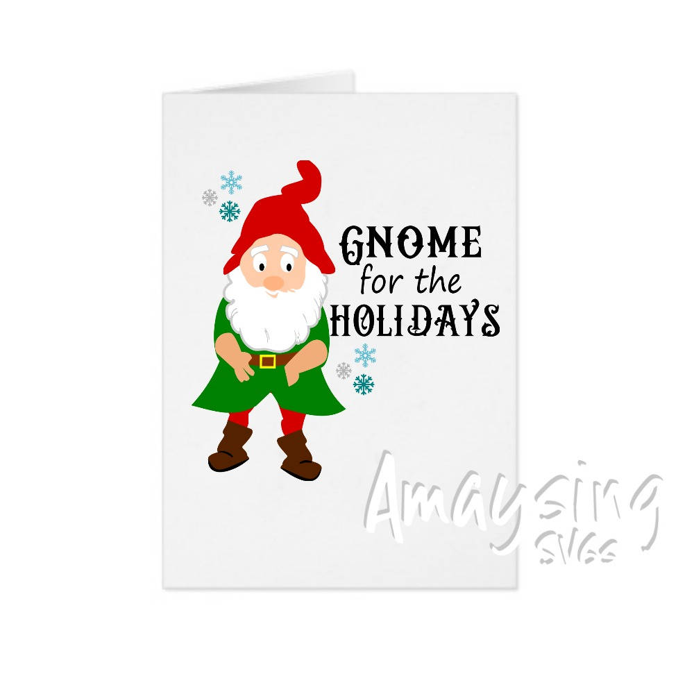 SVG Gnome for the Holidays Christmas Gnome Christmas svg | Etsy