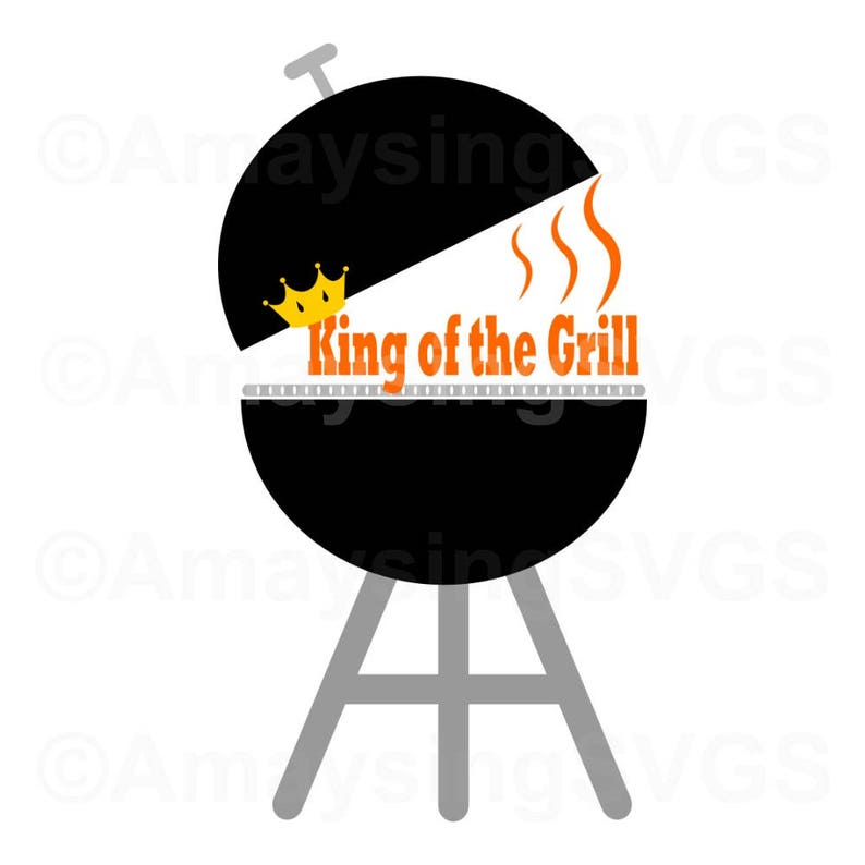 Free Svg King Of The Grill Bbq Svg Fathers Day Svg Dad Svg Etsy SVG, PNG, EPS DXF File