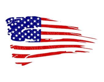 Distressed American Flag svg US Flag svg Flag Decor Patriotic svg 4th of July svg Stars and Stripes svg Rustic American Flag svg cut file