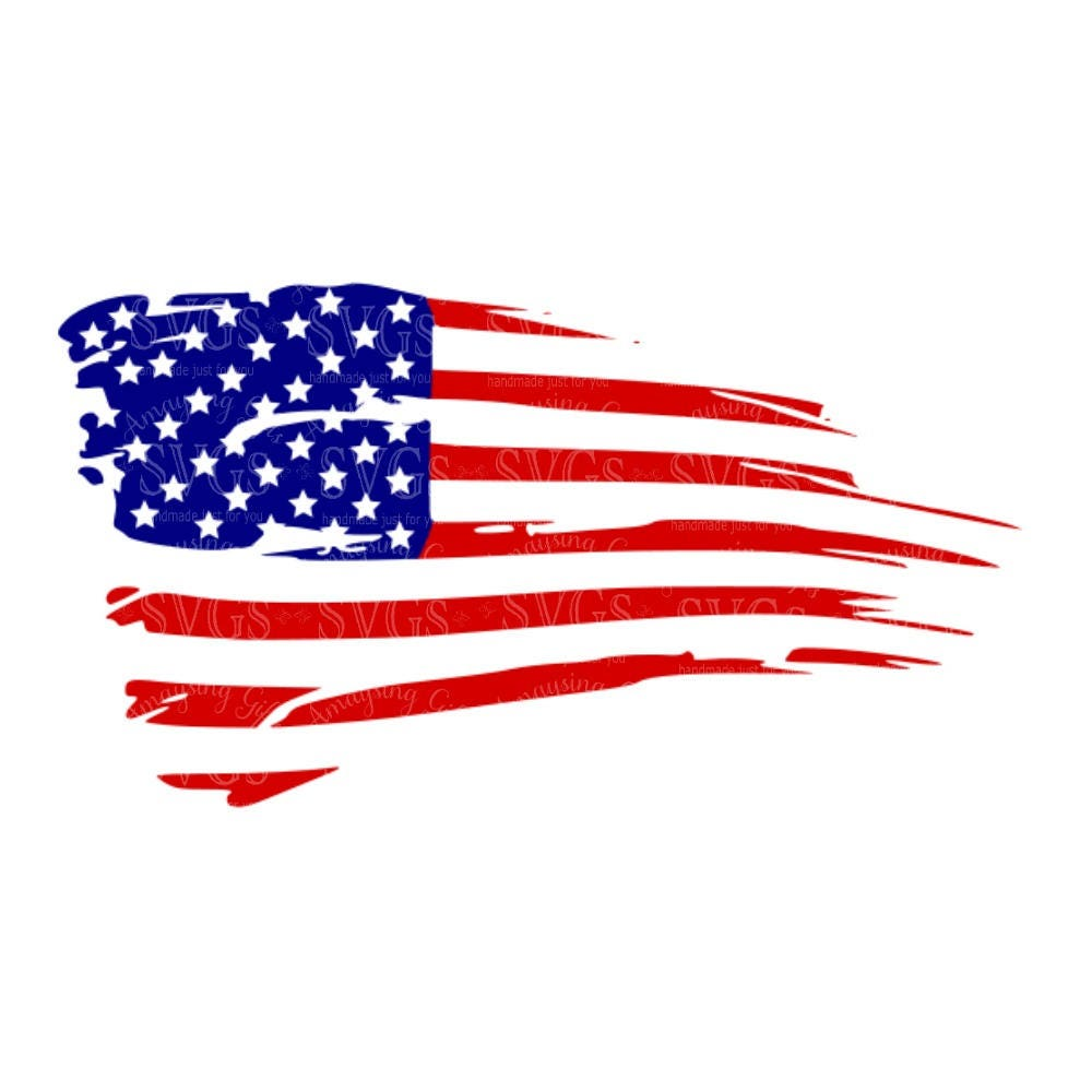Distressed American Flag Svg US Flag Svg Flag Decor