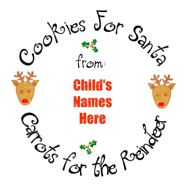 Svg Cookies For Santa Plate Svg Cookie Plate Design Christmas Cookie Plate Svg Carrots For The Reindeer Reindeer Santa
