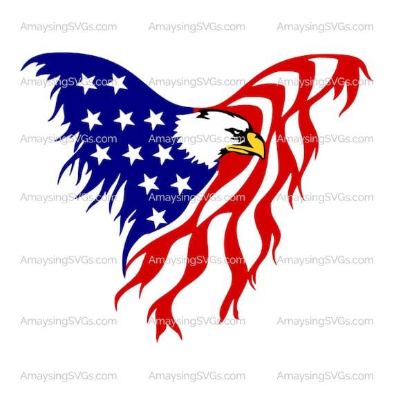 Eagle Flag Svg Patriotic Svg 4th Of July Svg Memorial Day Svg Etsy