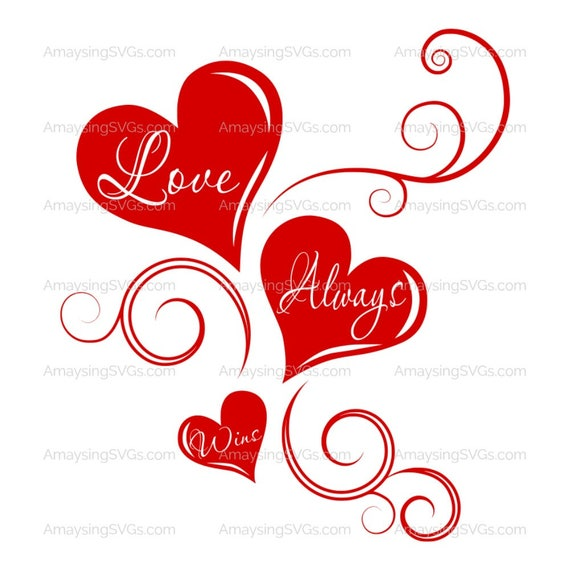 Svg Love Always Wins Valentines Day Svg Love Svg Heart Etsy