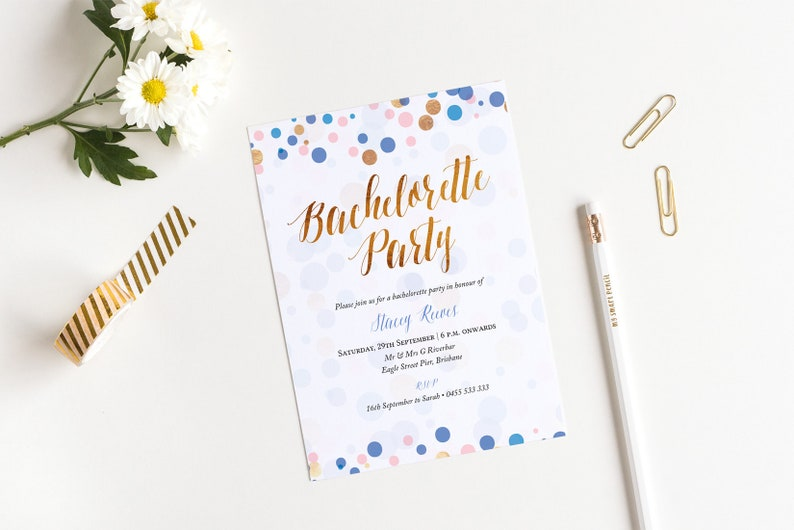 INSTANT DOWNLOAD Bachelorette Party invitation  Printable image 0