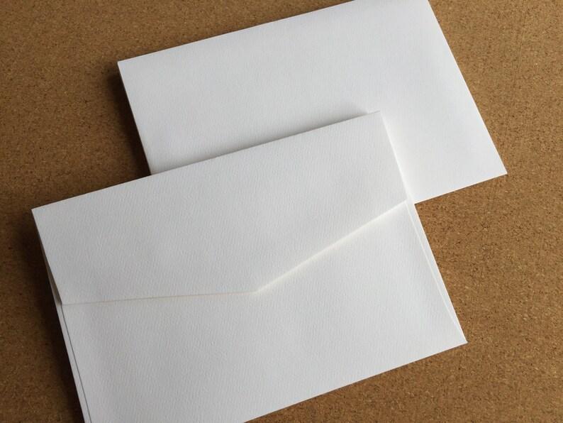 Premium White Felt envelopes 130mm x 190mm  pack of 10  image 0