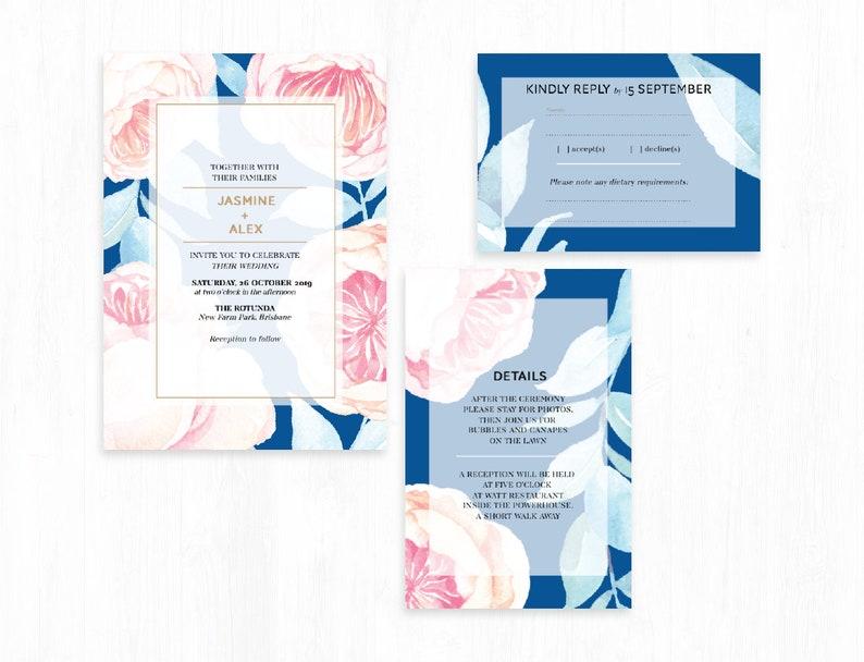 PRINTABLE Floralista wedding suite  instant download  image 0