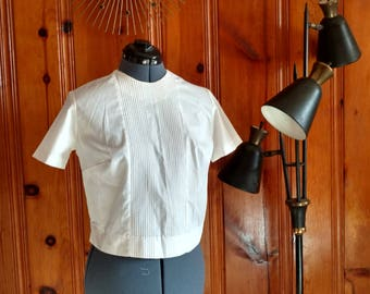 1960's White Cotton Blouse 32 Bust