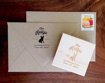 Custom French Bulldog Address Stamp