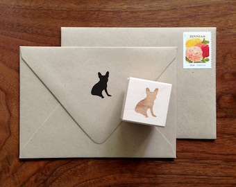 French Bulldog Silhouette Stamp
