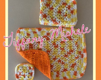 Fall Autumn Crochet Placemats and Coasters Kitchen Table Decor / Handmade / Sets