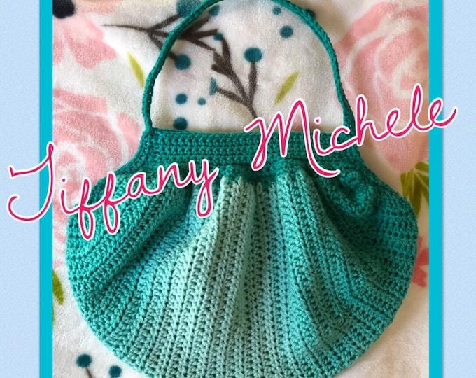 Boho Hobo Bag Purse / Handmade / Crochet