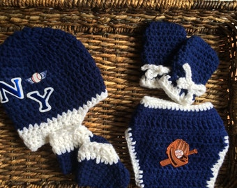 New York Yankees Crochet Baby Infant Gift Set