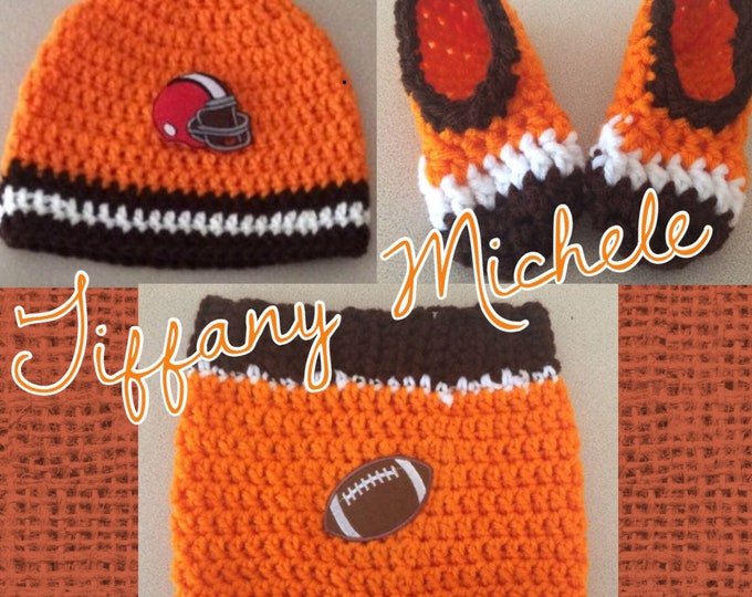 Cleveland Browns Inspired Football Gift Set - 12 months