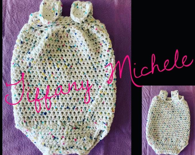 Newborn Crochet Baby Romper Onesie Handmade