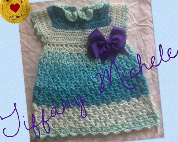 Blue Raspberry Caron Cake Dress 12 Months MARKDOWN