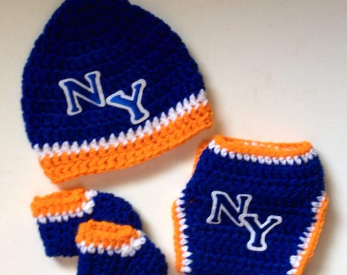 New York Basketball Crochet Baby Gift Set