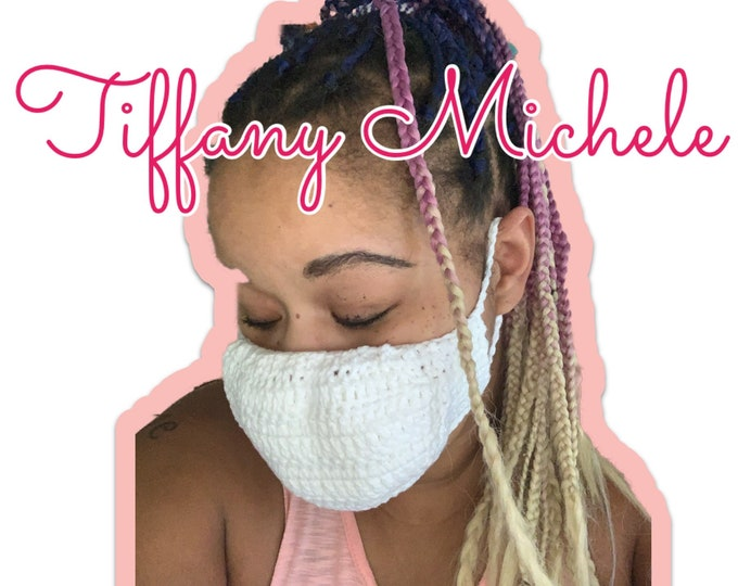 Choose Your Color Crochet Adult Face Mask (with and without filter pocket) / 100% Cotton