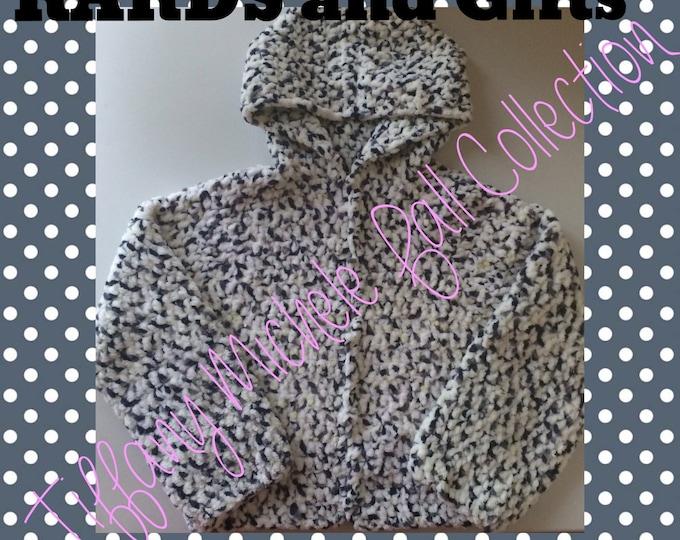 Soft Fleece Like Hoodie Jacket Kids Fall Fashion Size 4/5