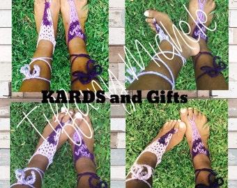 Purple Punch Beach Feet Barefoot Sandals