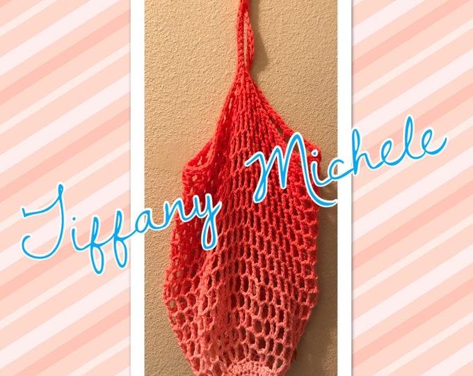Peach Market Beach Fun Bag Handmade