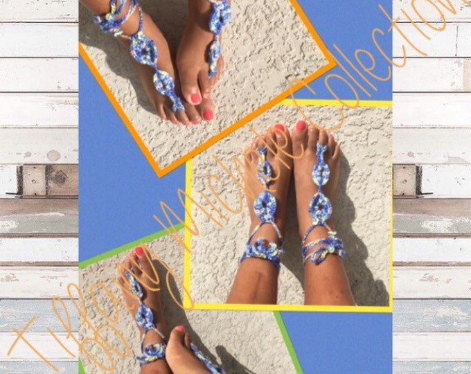 Tropic Blue Beach Feet Barefoot Sandals
