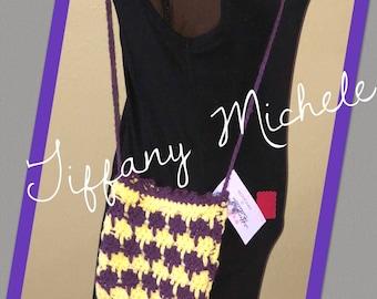 Small Purple and Yellow Purse Satchel (kids & adults)