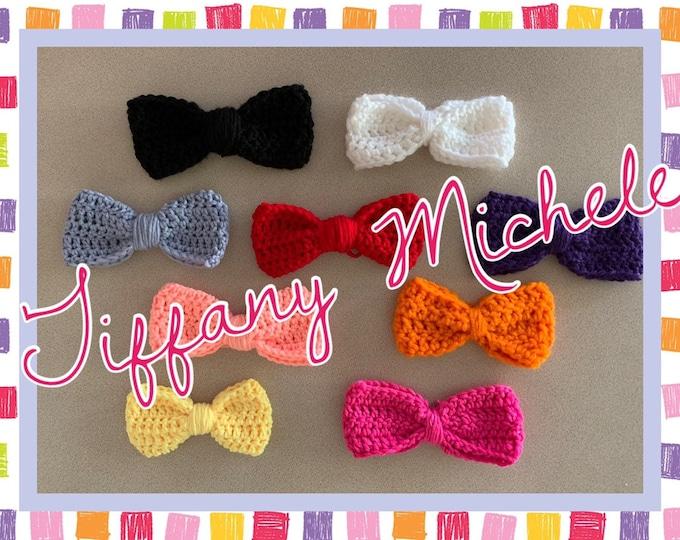 Crochet Hair Bows / Handmade / Different Colors