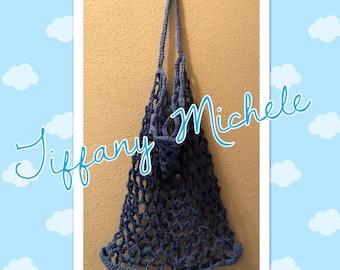 Blue Market Grocery Beach Fun Bag Handmade