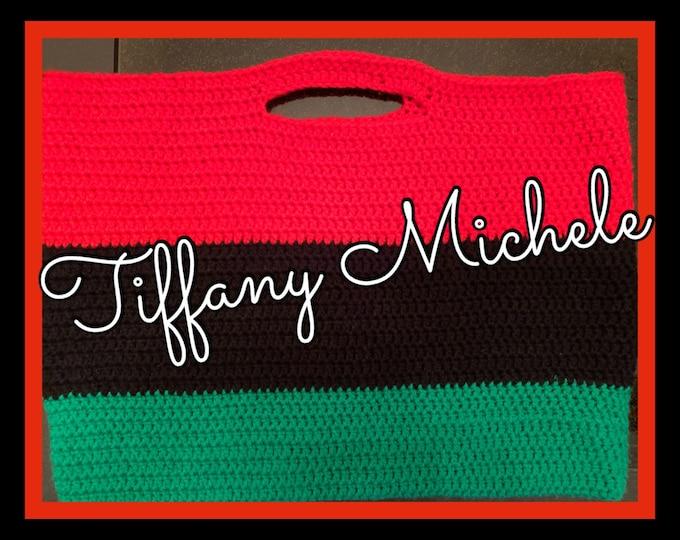 African Colors Tote Bag / Crochet / Handmade