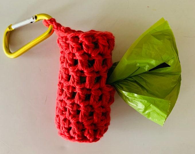 Crochet Dog Poop Bag Holder / Handmade