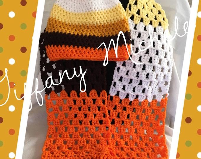 Fall Autumn Scarf and Beanie / Crochet Handmade / Gift Set
