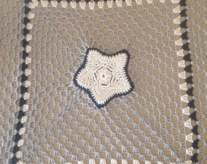 Crochet Baby Blanket Afghan Throw Dallas Cowboys Inspired