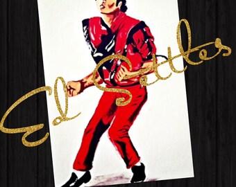 Michael Jackson Thriller Acrylic Artwork Original Signed Painting Art