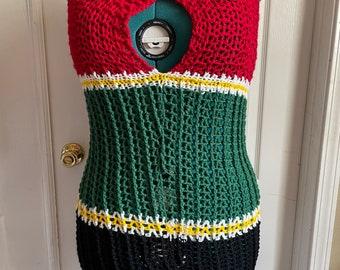 Tube Dress Handmade Crochet - Size L (custom available)